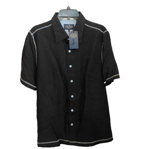 NWT Nat Nast Black Button Down Shirt